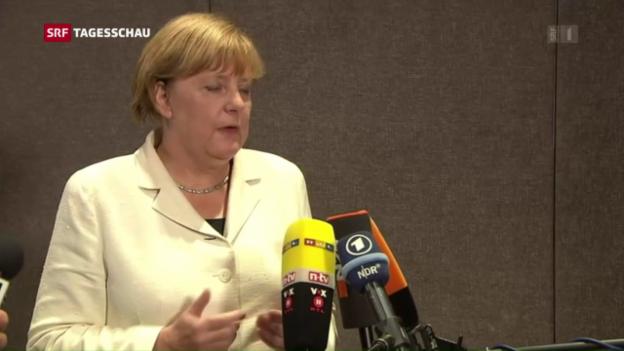 Video «Angela Merkel hält an ihrer Flüchtlingspolitik fest» abspielen