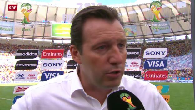 Video «Belgien - Russland: Interview mit Marc Wilmots» abspielen