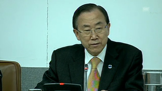 Video «Ban Ki Moon zu den Anschlägen in Boston (englisch)» abspielen