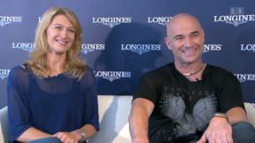 Video «Steffi Graf und Andre Agassi im Gespräch» abspielen