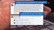 Link öffnet eine Lightbox. Video Hass-Postings im Internet abspielen