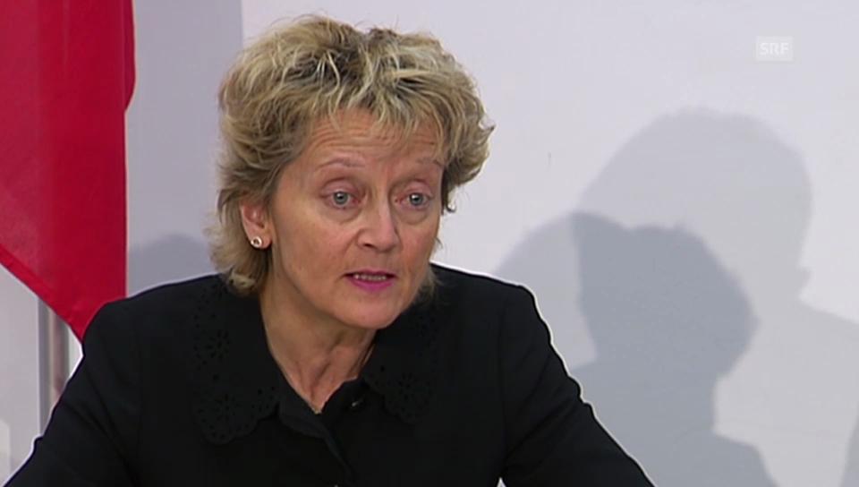 Eveline Widmer Schlumpf zu den Zinsbesteuerungen.