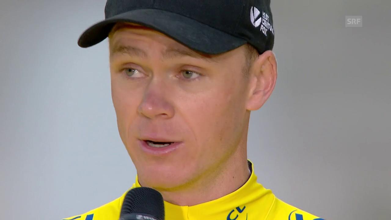 Froomes Rede nach seinem 4. Tour-Sieg (engl./frz.)