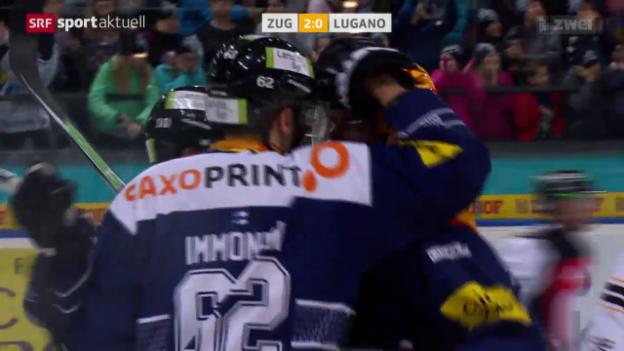 Video «Eishockey: NLA, Zug - Lugano» abspielen