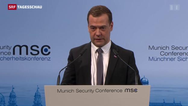 Video «Medwedews Provokation – oder alles nur ein Missverständnis?» abspielen