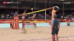 Video «Beachvolleyball: Schweizer Duell an der WM in den Niederlanden» abspielen