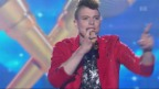 Video «Lucas Fischer singt an WM» abspielen