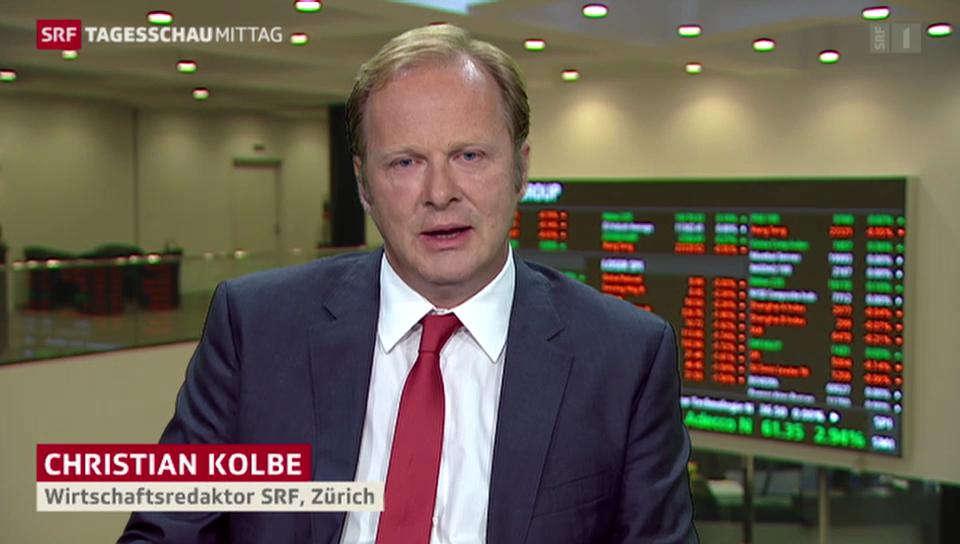 SRF-Wirtschaftsredaktor Christian Kolbe zu den Shutdown-Folgen