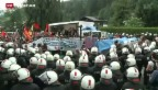 Video «Auseinandersetzungen vor G7-Treffen» abspielen