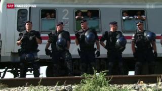 Video «Prekäre Lage für die Flüchtlinge in Kroatien» abspielen