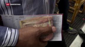 Video «Währungsintervention in Indien» abspielen