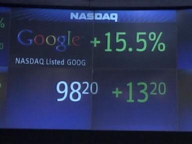 Erster Handelstag für Google