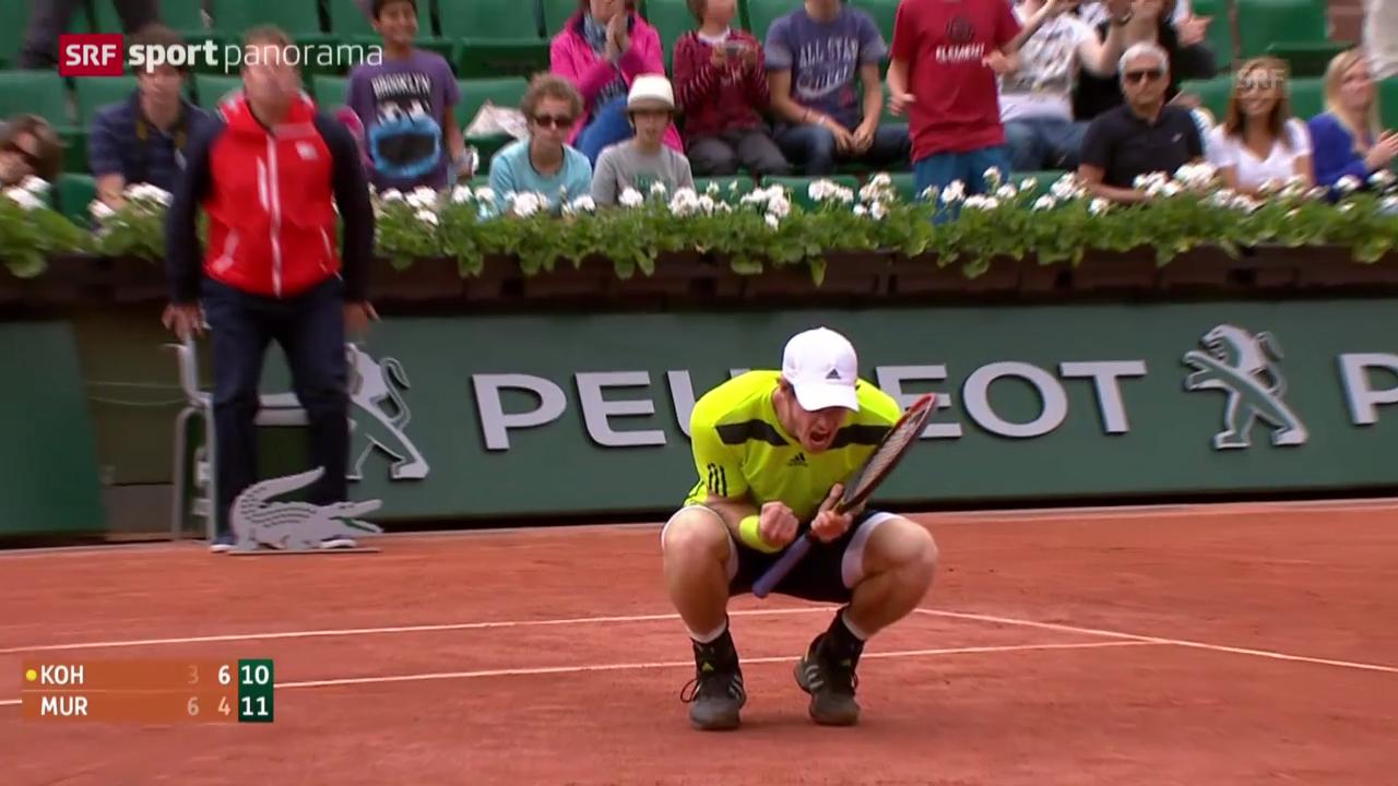 Tennis: French Open, Murray - Kohlschreiber: Der Matchball («sportpanorama»)