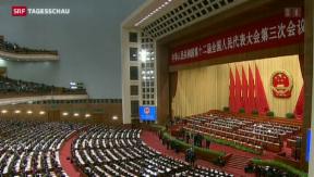 Video «China schraubt Wachstumsziel herunter» abspielen