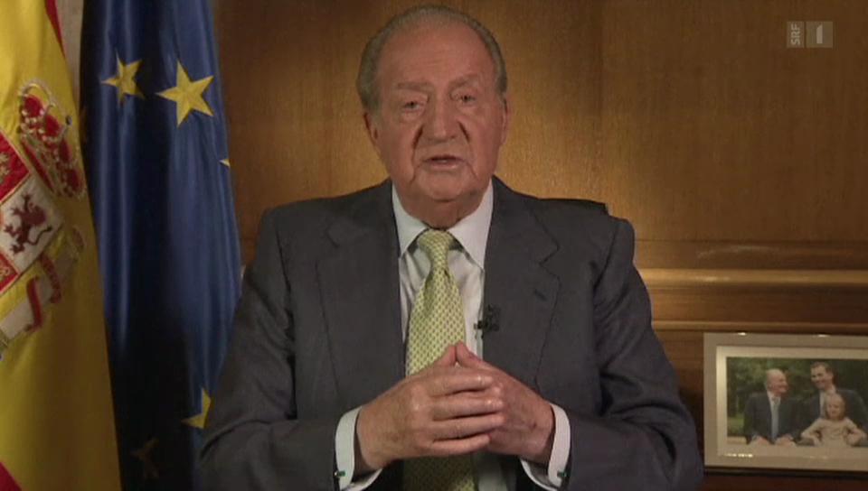 Juan Carlos tritt ab