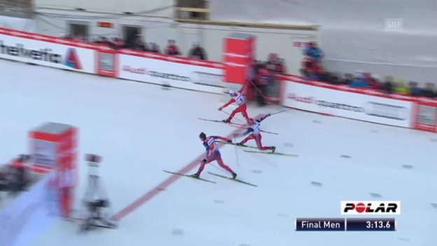 Video «Langlauf: Sprints Tschierv, Final Männer» abspielen