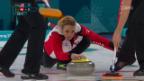 Video «Sowohl Curlerinnen wie auch Curler holen ersten Sieg» abspielen