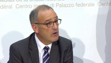 Video «Bundesrat Parmelin zur Wahl des neues Armeechefs Rebond (franz.)» abspielen