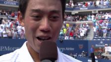Video «Nishikori im Platzinterview (englisch)» abspielen