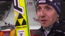 Video «Skispringen: Nordisch-WM Falun, Grossschanze, Interview mit Simon Ammann» abspielen