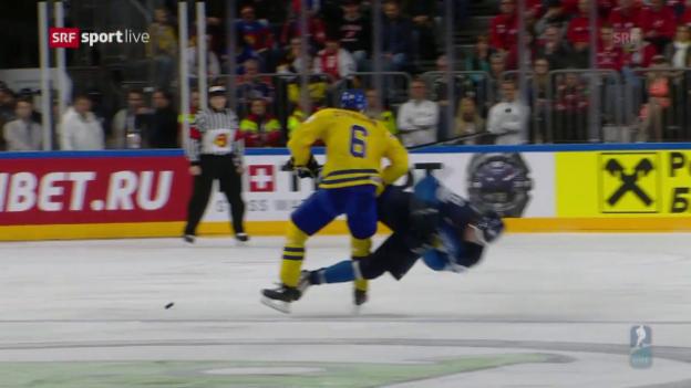 Video «Schwedens Stralman packt den Monstercheck aus» abspielen