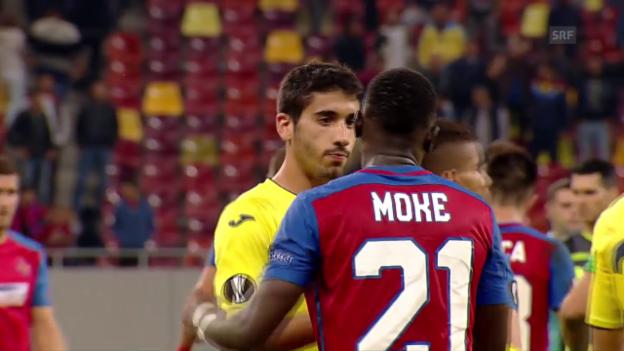 Video «Villarreal und Steaua trennen sich unentschieden» abspielen