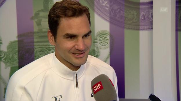 Video «Federer: «Am Anfang war ich überraschend nervös»» abspielen