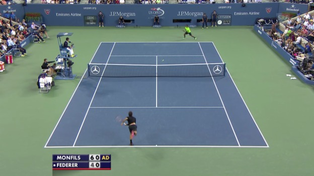Video «Tennis: US Open, Highlights Federer - Monfils» abspielen