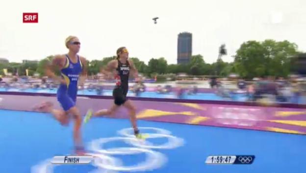 Video «London 2012: Triathlon, Gold-Finish von Nicola Spirig» abspielen