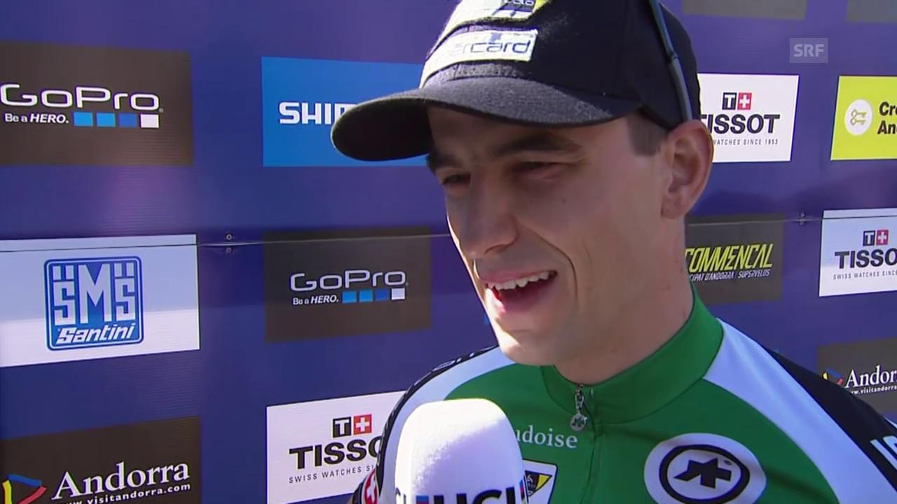 Rad: Mountainbike-WM in Adorra, Interview mit Nino Schurter (englisch)