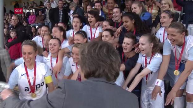 Video «FCZ-Frauen gewinnen den Cup («sportaktuell»)» abspielen