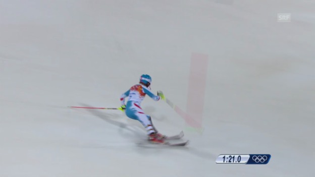 Video «Ski: 2. Lauf Marlies Schild (sotschi direkt, 21.02.2014)» abspielen
