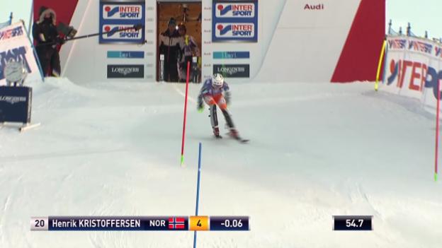 Video «Ski Alpin: Der 2. Lauf von Henrik Kristoffersen» abspielen