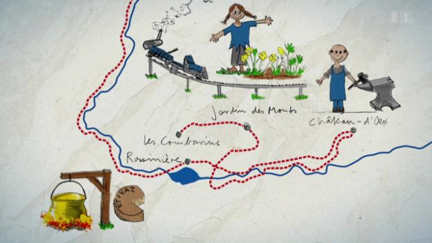 Video «1. Tag: Lessoc - Les Combarins» abspielen