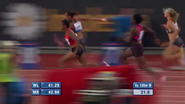 Video «Das Staffel-Rennen der Frauen («sportlive»)» abspielen