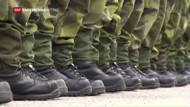 Video «Schweden kehrt zur Wehrpflicht zurück» abspielen