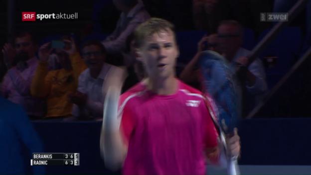 Video «Die Turniernummern 2 und 6 scheitern in Basel früh» abspielen
