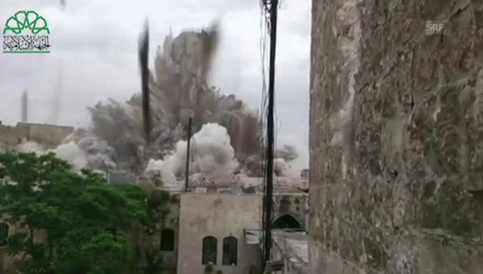 Die Detonation zerstörte mehrere Gebäude