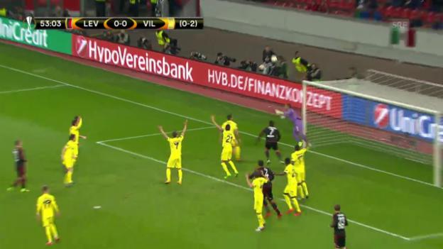 Video «Leverkusen scheitert an Villarreal» abspielen