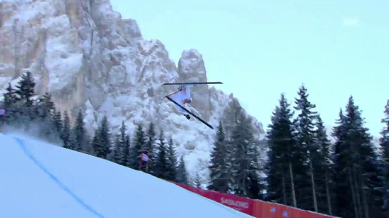 Ski Alpin: Weltcup, Abfahrt Gröden, Sturz David Poisson 2010