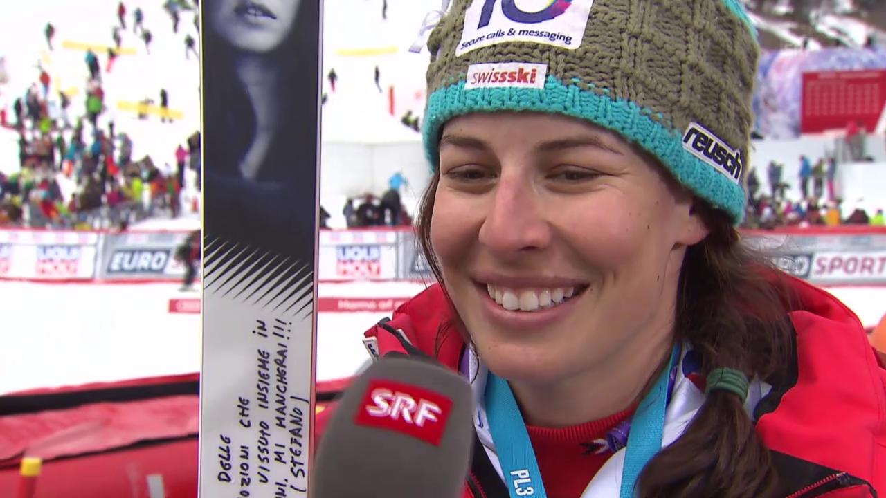 Ski: Weltcupfinale Méribel, Riesenslalom Frauen, Interview Dominique Gisin 1