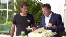 Link öffnet eine Lightbox. Video Kuchen für Nummer 1 Federer abspielen