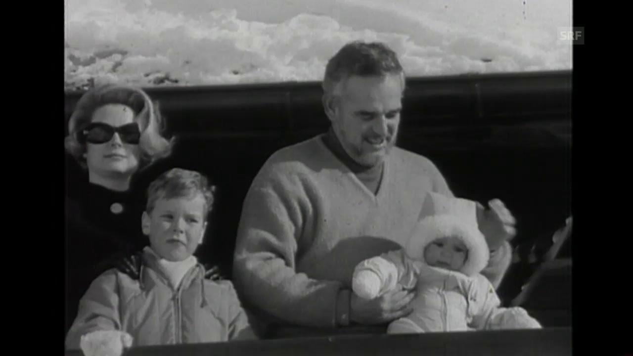 Ferien in Schönried (Tagesschau o. Ton, 12.2.1961)