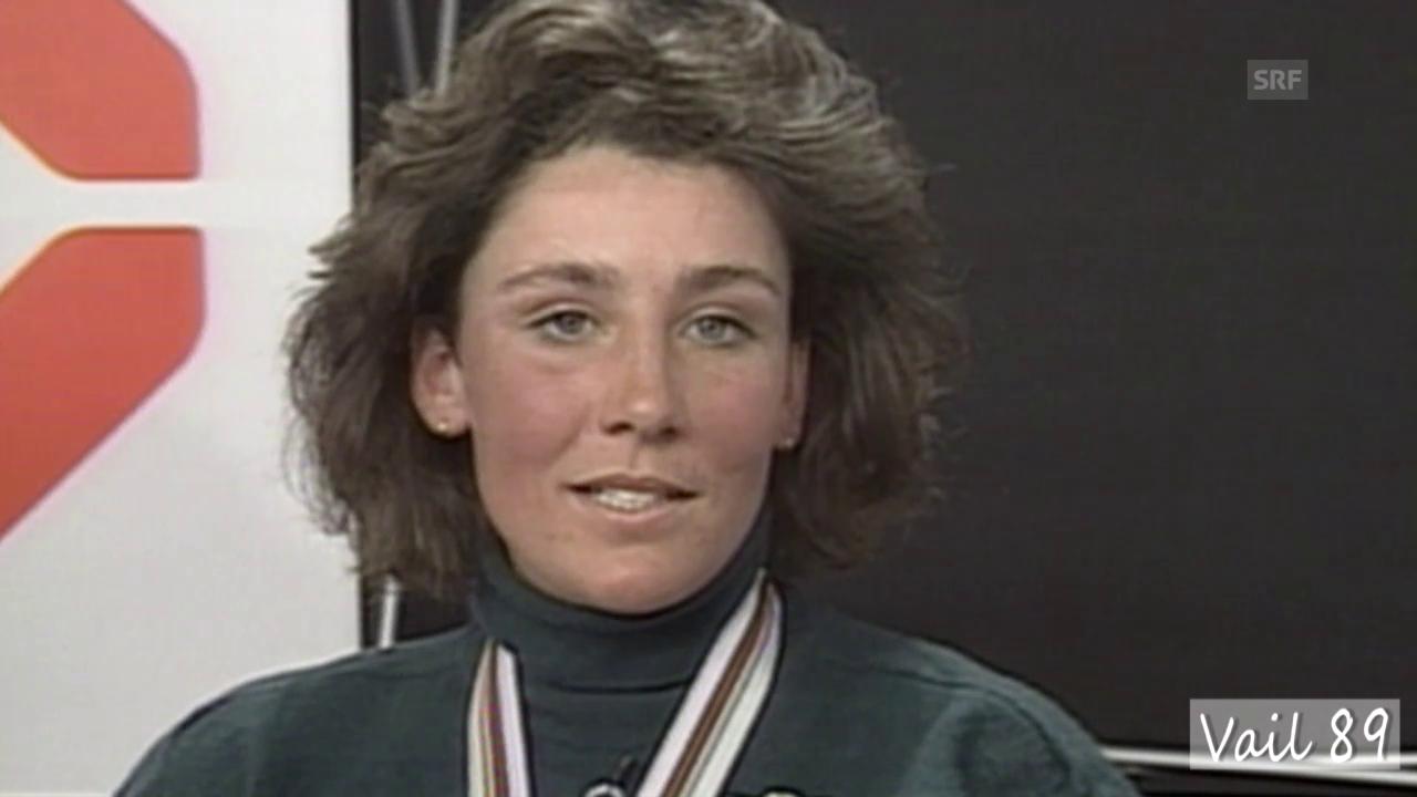 Maria Wallisers Traumlauf an der WM-Abfahrt 1989