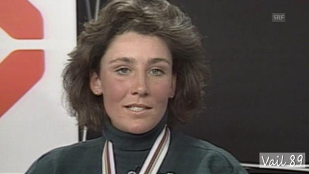 Video «Maria Wallisers Traumlauf an der WM-Abfahrt 1989» abspielen