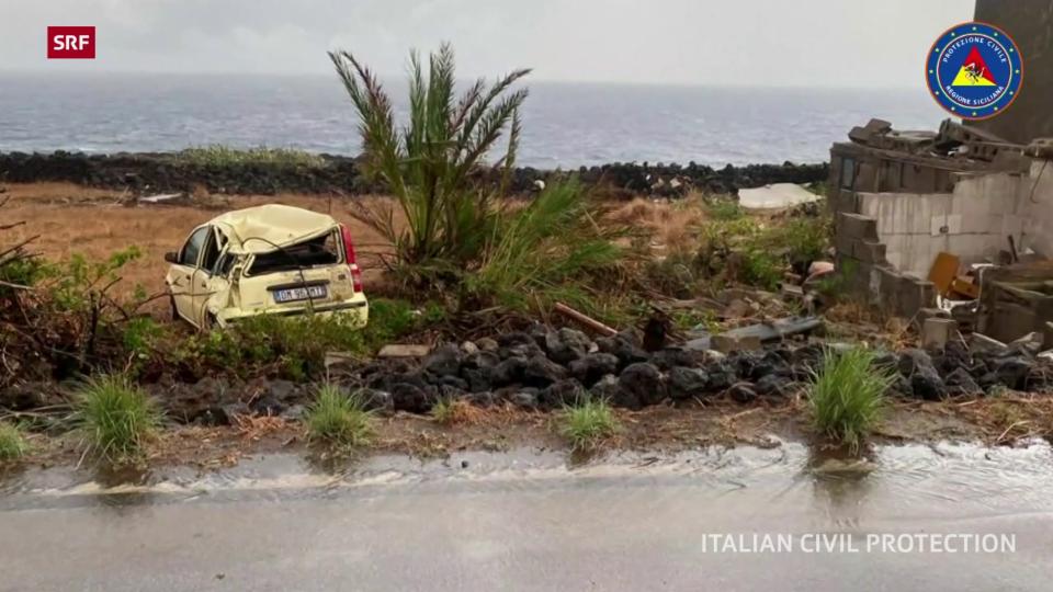 Grosse Schäden nach Sturm auf Pantelleria
