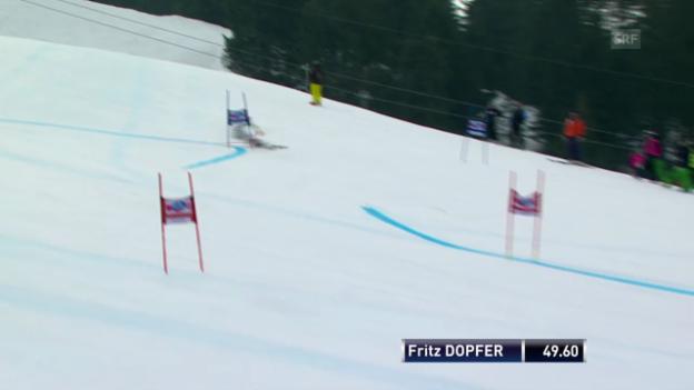 Video «Ski: Weltcup der Männer, Riesenslalom Lenzerheide, Die Fahrt von Fritz Dopfer («sportlive, 15.03.2014)» abspielen