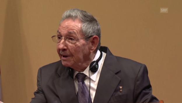 Video «Raúl Castro zu den politischen Gefangenen (span.)» abspielen