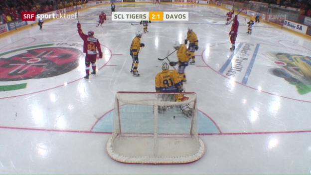 Video «SCL Tigers weisen Davos in die Schranken» abspielen