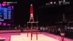 Video «Kunstturnen: WM in Glasgow, Mehrkampf Männer» abspielen